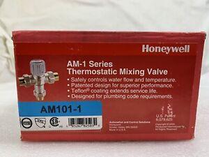 "Honeywell Thermostatic Mixing Valve AM101-1, 3/4"" NPT 100-145 - AM-1 SERIES"