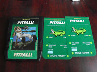 Vintage 1982 Intellivision Pitfall Video Game Cartridge with Overlays
