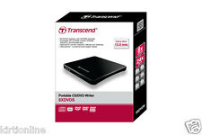 Transcend Ultra Slim Portable External USB CD/DVD Writer Model no. TS8XDVDS-K