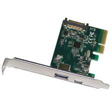 PCI-E exprimer 4x vers USB 3.1 Type C USB-C & A Carte d'extension adaptateur