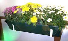 """NEW 7"""" WHITE BALCONY RAILING FLOWER WINDOW BOX GARDEN PLANTS BRACKETS"""