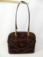 BEVERLY HILLS BAG LADY HORSE HANDBAG PURSE MADE ITALY GENUINE LEATHER EQUESTRIAN