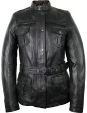 Damen Lederjacke Mantel leichte Sommer Jacke Bikerjacke Echtes Lamm Leder