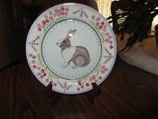 New listing Danna Cullen Meadow Bunny Zrike Salad Plate 8.5�