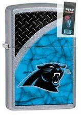 Zippo 29355 Carolina Panthers NFL Street Chrome Finish Lighter + FLINT PACK