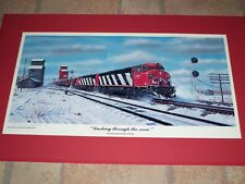 Robert West  'Dashing through the Snow' Railroad Art Print - A/P Signed