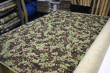 2NDS FABRIC 4 yds PIXELATED DIGITAL GREEN BROWN & BLACK WOODLAND RIPSTOP CAMO