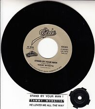 "TAMMY WYNETTE  Stand By Your Man & He Loves Me All The Way 7"" 45 rpm record NEW"