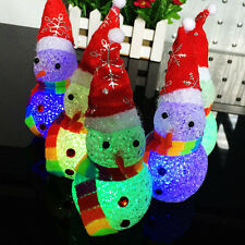 Strahlig Schneemann aus Klar Perlen mit LED Licht Wechsel am Weihnachten Ornmant