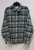 Vintage J. Crew long sleeve button up flannel shirt plaid cotton men's size XL