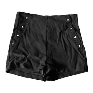 Charlotte Russe Studded Black Shorts Hot Pants Size Small