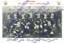 WALES 1908 (v Scotland) RUGBY PHOTO & POSTCARD - FIRST GRAND SLAM TEAM