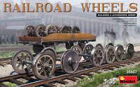 Miniart 35607 - 1/35 Set of railway wheels Scale Plastic Model Kit