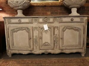 French 18th Century painted low Dresser ( Buffet ) c 1750