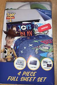 Disney Pixar TOY STORY FULL Size Bed Sheet Set - 4 Piece SET/NEW