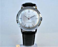 Vintage 1965 TIMEX MARLIN, serviced, silver dial, chrome case