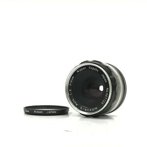 *EXC* Nikon Nippon Kogaku Nikkor-S Auto Non-Ai f/2 5cm 50mm MF Lens for F Mount