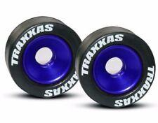 Traxxas TRA5186A Mounted Wheelie Bar Tires/Wheels Blue (2)