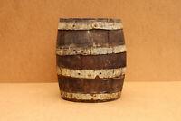 Old Antique Primitive Wooden Wood Barrel Vessel Keg Canteen Wine Early 20th.