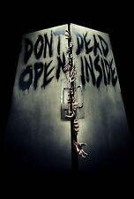 L@@K! Dont Open Dead inside Walking Dead Parking sign Room sign Daryl Rick