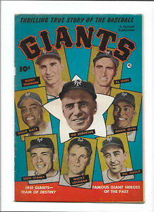 THRILLING TRUE STORY OF THE BASEBALL GIANTS [1952 FN+] PHOTO COVER!