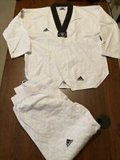 Adidas Taekwondo Tkd Uniform Gi Dobok Black Collar (Size 2 /160) Korea karate mm
