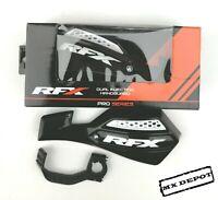 RFX MX HAND GUARDS VENTED BLACK MOTOCROSS ENDURO HANDGUARDS UNIVERSAL