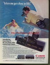 Canon Canovision 8 VC-200A Camera 1985 Magazine Advert #942