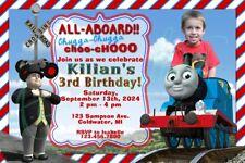 Thomas The Train Custom Birthday Party Invitation Unique Design