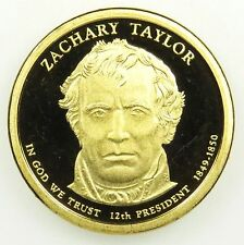 2009 S Presidential Dollar Zachary Taylor Gem Deep Cameo Proof in Airtite