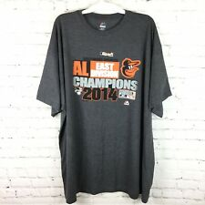 Baltimore Orioles AL East Division Champions Majestic Gray Short Sleeve 3XL Tall