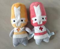 Plush Toy Supply 2PCS/SET 20cm Castle Crashers red Orange Knight stuffed