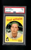 1959 Topps # 349 Hoyt Wilhelm PSA 7 NM