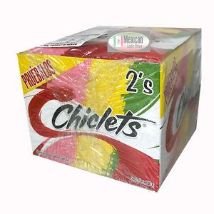2x Adams Gum 100 x 2 units - Chiclets Mix flavors Mexican gum 200-pcs