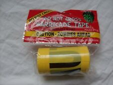 Lot of 3 - Halloween Zombies Ahead DO Not Cross CAUTIONTape 50' Roll Fast Free