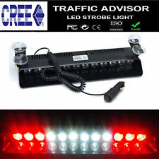12LED Emergency Hazard Warning Visor Dash Flash Strobe Light Bar Red White Red