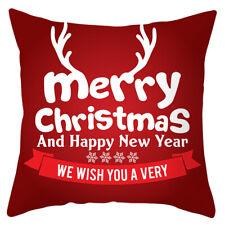 Red Christmas Pillow Case Santa Elk Sofa Car Throw Cushion Cover Xmas Home Decor