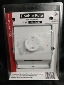 Fahrenheat FTA2A Double Pole with Positive OFF Unit-mount Baseboard Thermostat-N