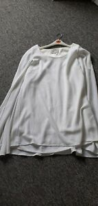 Lavish Alice Cape Dress Size 16 White