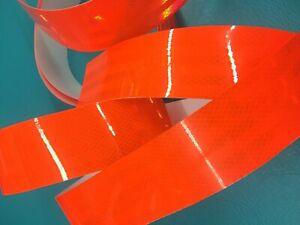2 Rolls 3M Orange Fluorescent Tape Reflective Crab Lobster Pot Trap Buoy Marker