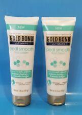 GOLD BOND Pedi Smooth Foot Cream Exfoliates and Smoothes Feet 3.5 oz ( LOT OF 2)