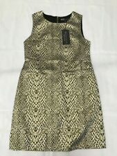 MELA LONDON Gold Snake Sleeveless Bodycon Dress SIZE UK 10 /EU 38
