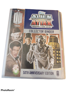 Doctor Who Alien Attax 50th Anniversary folder and 127 cards