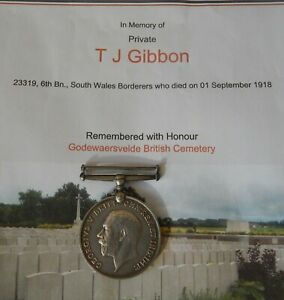 WW1 South Wales Borderers KIA Casualty (Gibbon)