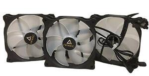 Antec F12, 120mm High Performance RGB PC Case Fan, 3Pin-4 Pin, 1000 RPM, 3-Pack