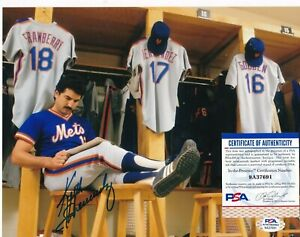 KEITH HERNANDEZ  NEW YORK METS  PSA AUTHENTICATED  ACTION SIGNED 8x10