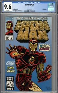 Iron Man #290 CGC 9.6 NM+ Gold Foil Cover WHITE PAGES