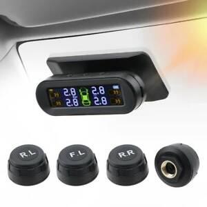 Solar TPMS Car Tyre Pressure Monitoring System 4 Wireless External Sensors UK