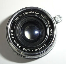 Canon 35mm f 2.8 LTM Lens w/  Viewfinder Leather Case