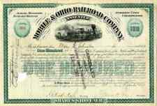 1899 Mobile & Ohio RR Stock Certificate